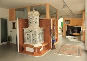 Lo showroom di Stufe Pretti a Croviana