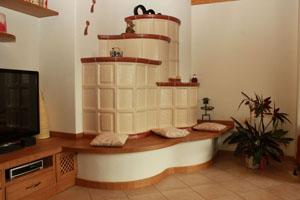 Lo showroom di Stufe Pretti a Croviana, in Val di Sole